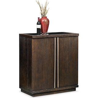Gavin Wine Cabinet - Brownstone