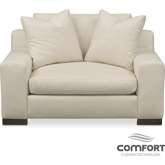 Living Room Furniture - Ethan Comfort Chair and a Half - Anders Cloud