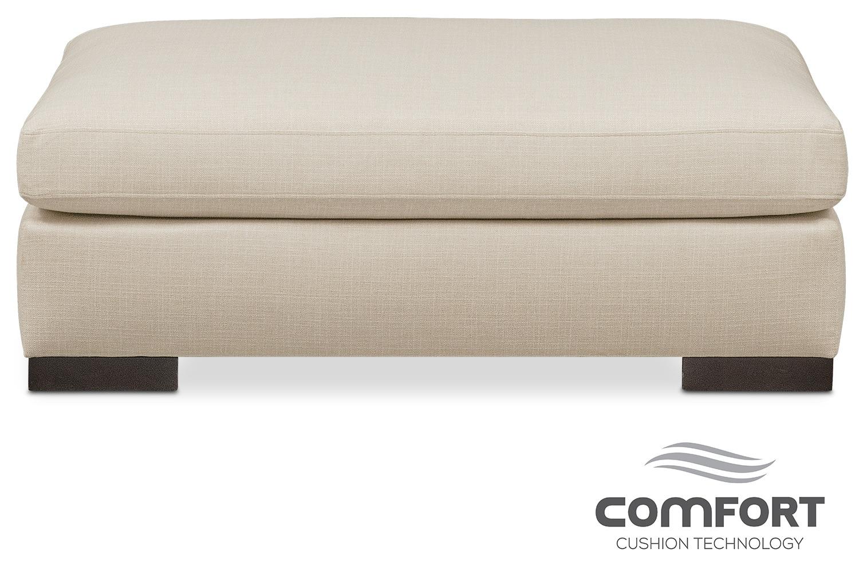 Living Room Furniture - Ethan Comfort Ottoman - Cream