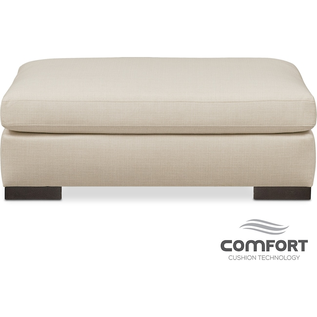 Living Room Furniture - Ethan Comfort Ottoman - Anders Cloud