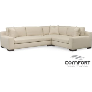 Ethan Comfort 2-Piece Sectional with Left-Facing Sofa - Anders Cloud