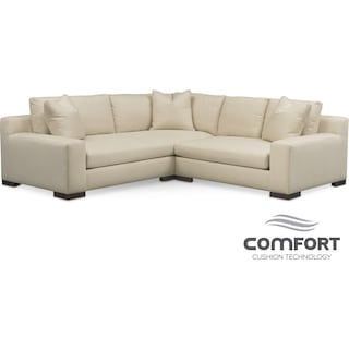 Ethan Comfort 2-Piece Sectional with Right-Facing Loveseat - Anders Cloud