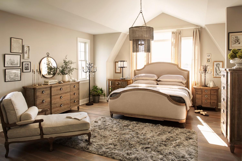 Regents Park 6-Piece Queen Bedroom Set - Oak | American Signature ...