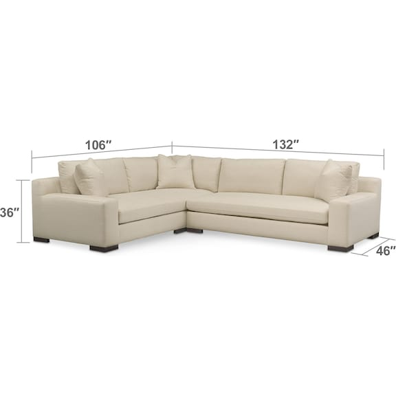 Ethan Cumulus 2 Piece Sectional With Right Facing Sofa
