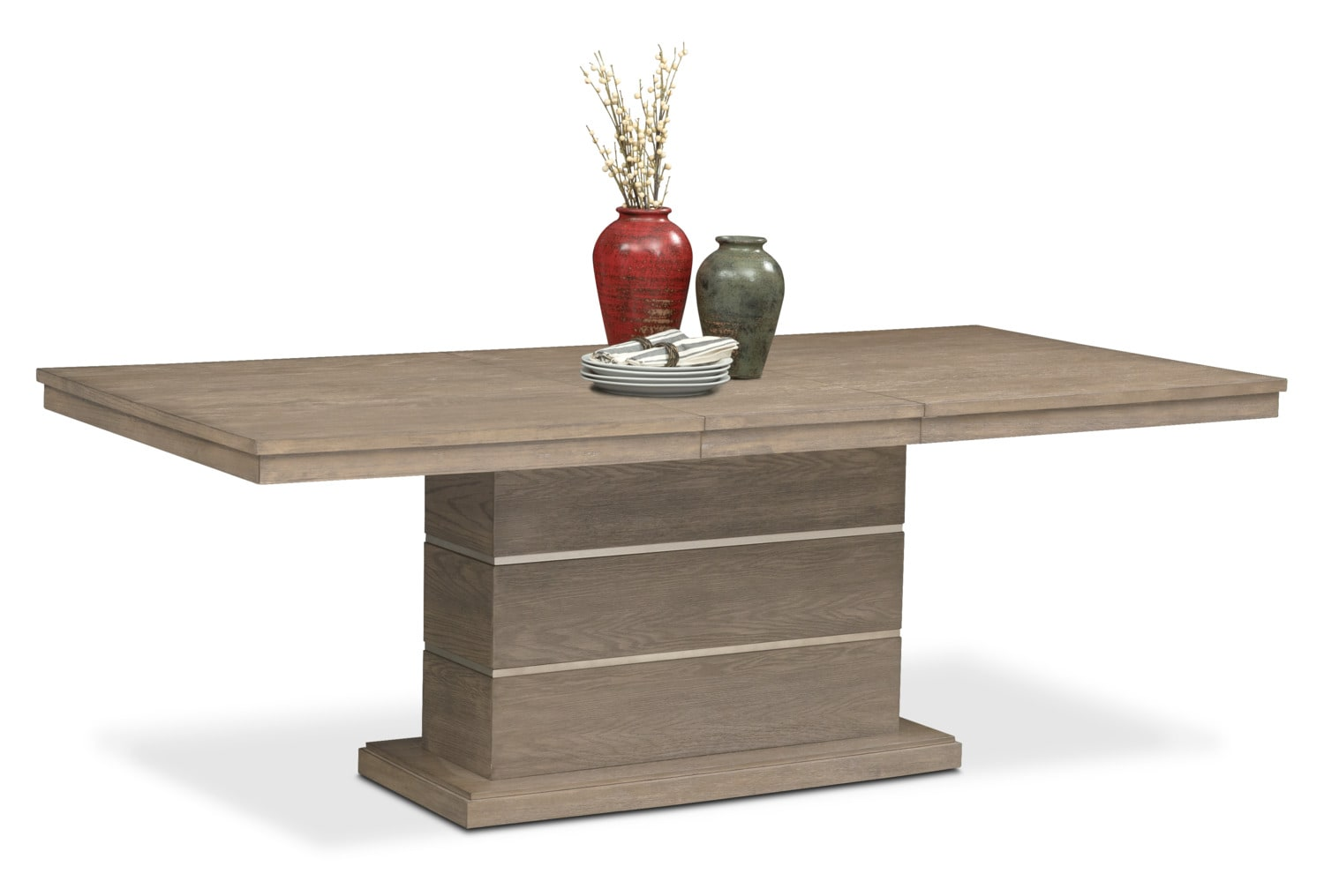 Dining Room Furniture - Gavin Pedestal Table - Graystone