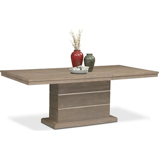 Gavin Pedestal Table - Graystone