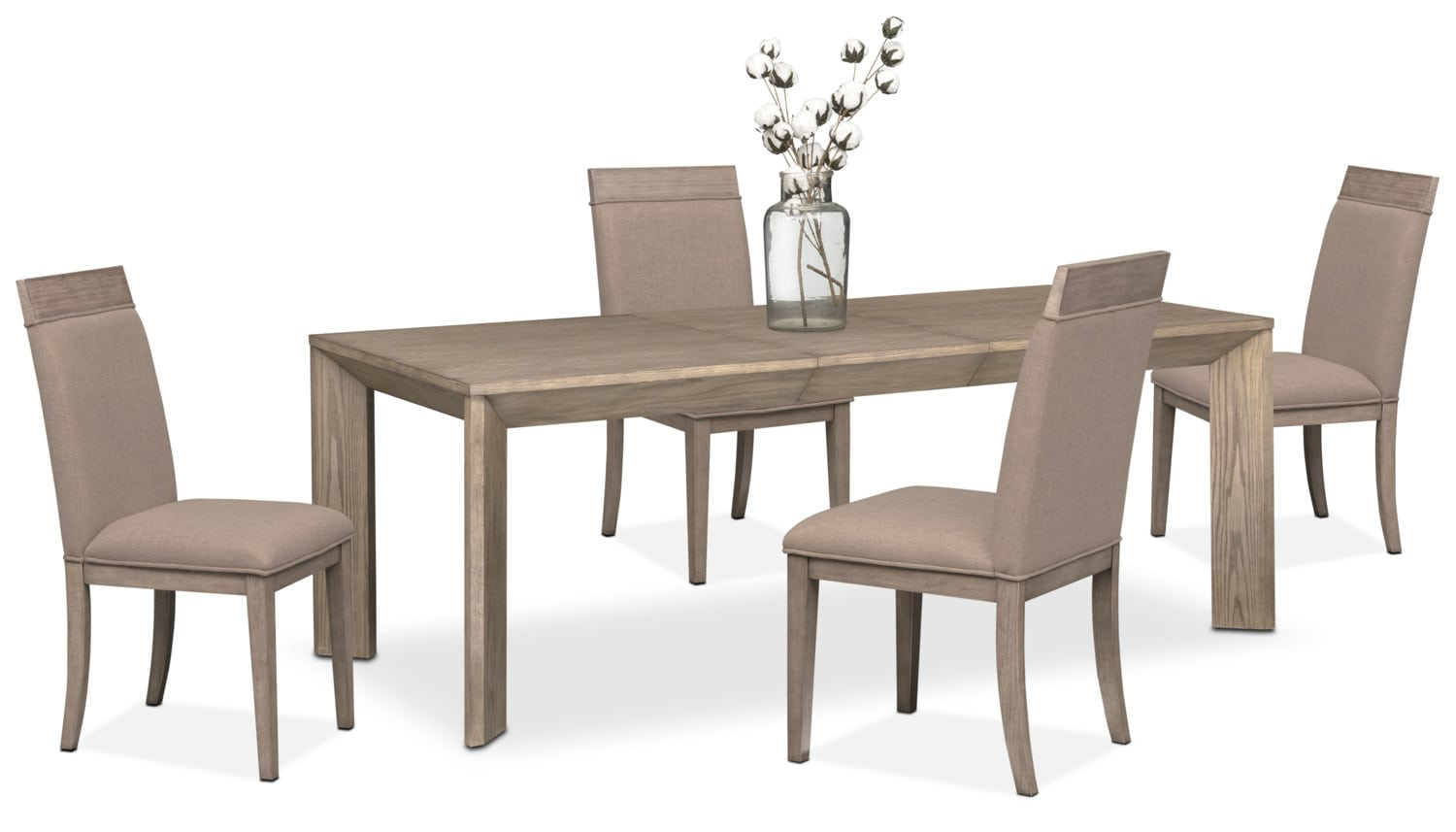 Dining Room Furniture   Gavin Table And 4 Side Chairs   Graystone