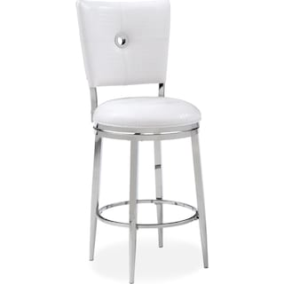 Debutante Counter-Height Stool - White