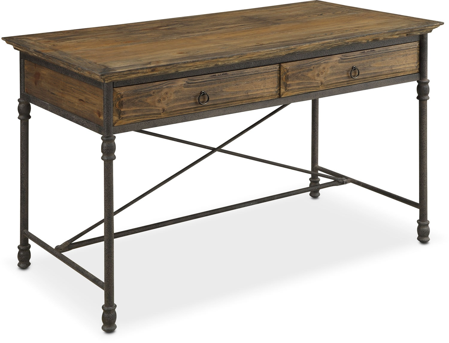 bedford desk pine american signature furniture