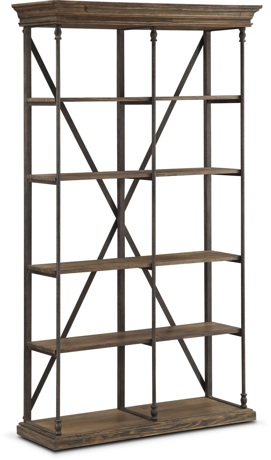 Bedford Double Bookcase - Pine