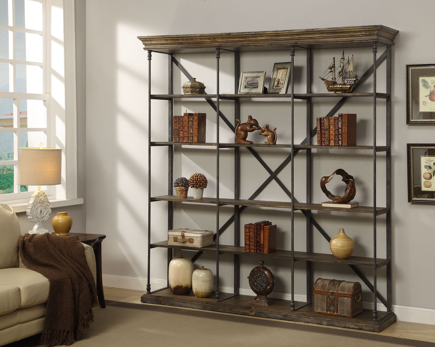 Bedford Home Office Triple Bookcase American Signature