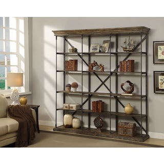 Bedford Triple Bookcase - Pine