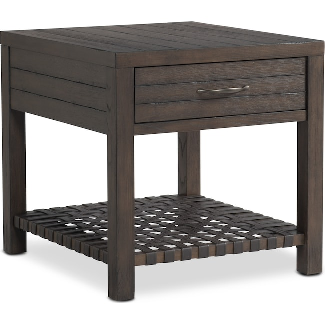 Accent and Occasional Furniture - Brewer End Table - Dark Oak