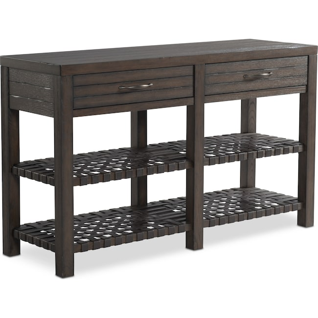 Accent and Occasional Furniture - Brewer Sofa Table - Dark Oak