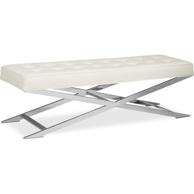 Accent and Occasional Furniture - Excalibur Bench - White