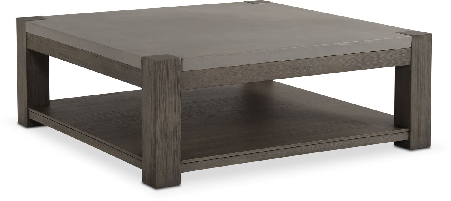 Accent and Occasional Furniture - Kellen Square Cocktail Table - Gray