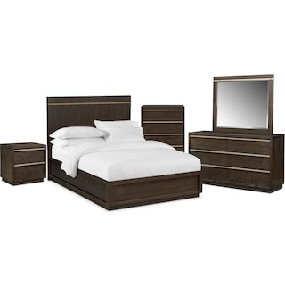 The Gavin Bedroom Collection - Brownstone