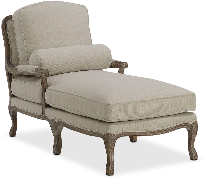 Living Room Furniture - Maria Chaise - Cream