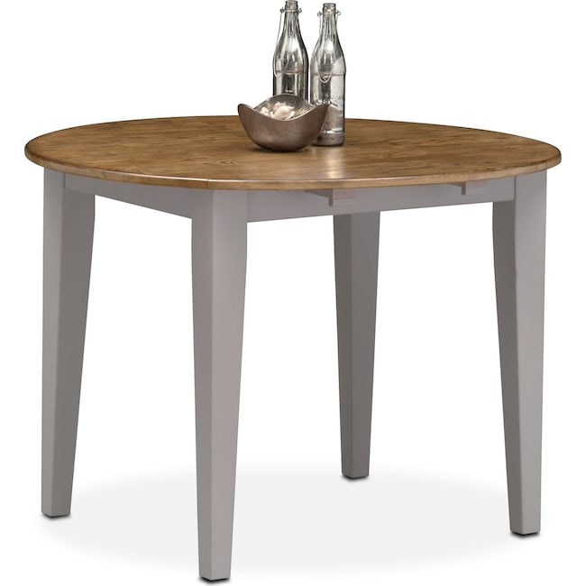 Dining Room Furniture - Nantucket Drop-Leaf Table - Oak and Gray