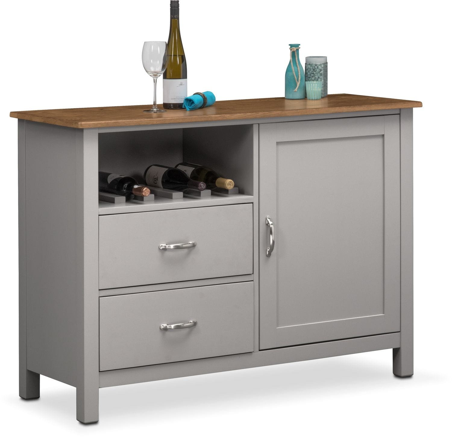 Dining Room Storage Furniture: Nantucket Sideboard - Oak And Gray