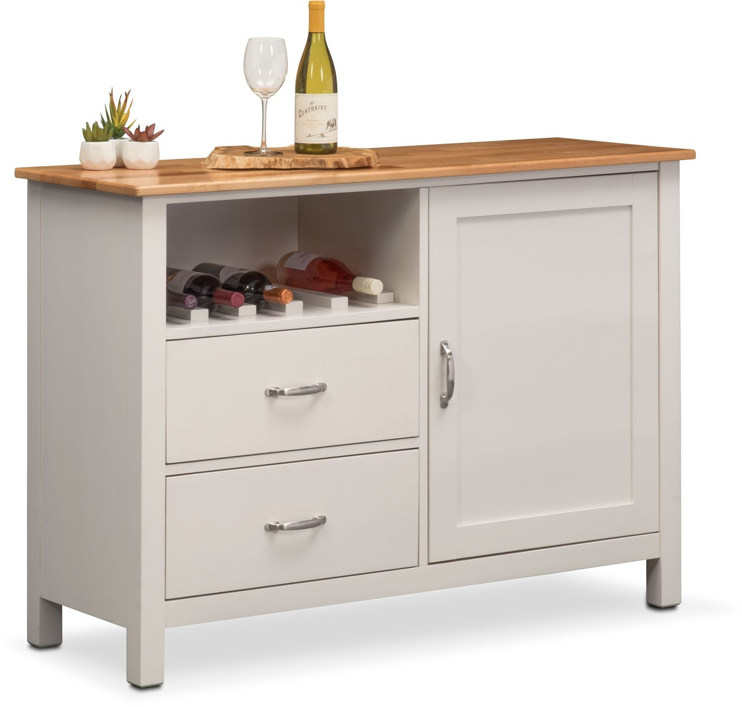 Nantucket Sideboard - Maple and White