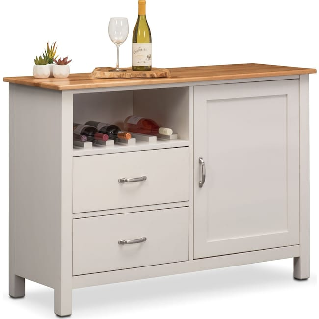 Dining Room Storage Furniture: Nantucket Sideboard - Maple And White