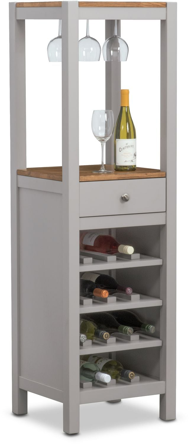Nantucket Wine Cabinet - Oak and Gray