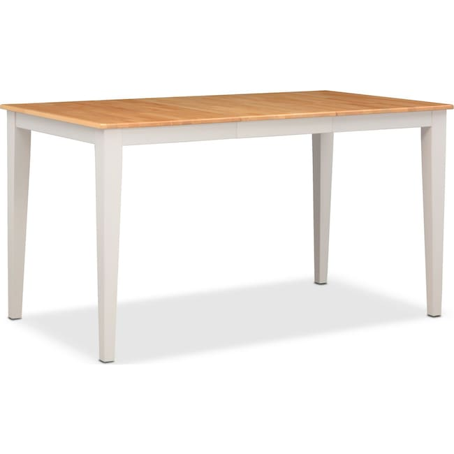 Nantucket Counter Height Table Maple And White American Signature Furniture
