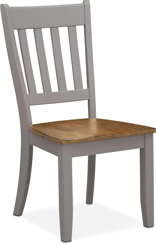 Nantucket Slat-Back Chair - Oak and Gray