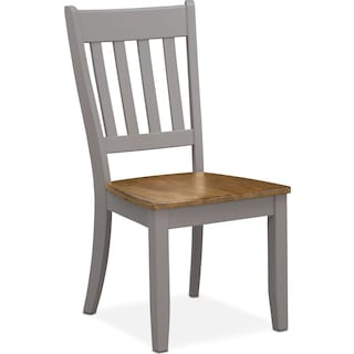 Nantucket Slat-Back Chair - Oak and Gray