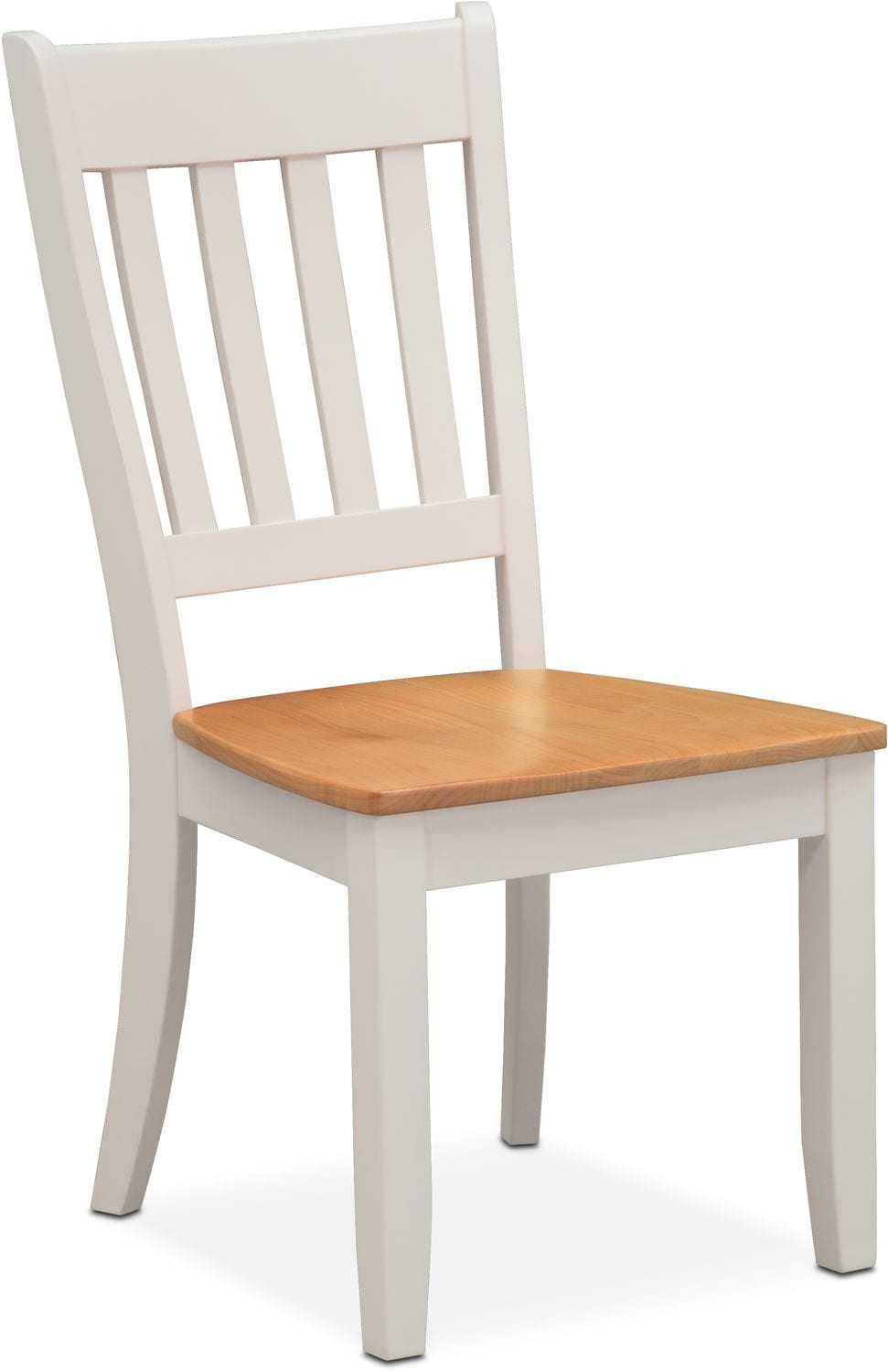 Nantucket Slat-Back Chair - Maple and White