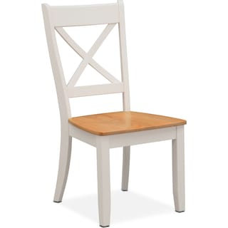 Nantucket Side Chair - Maple and White