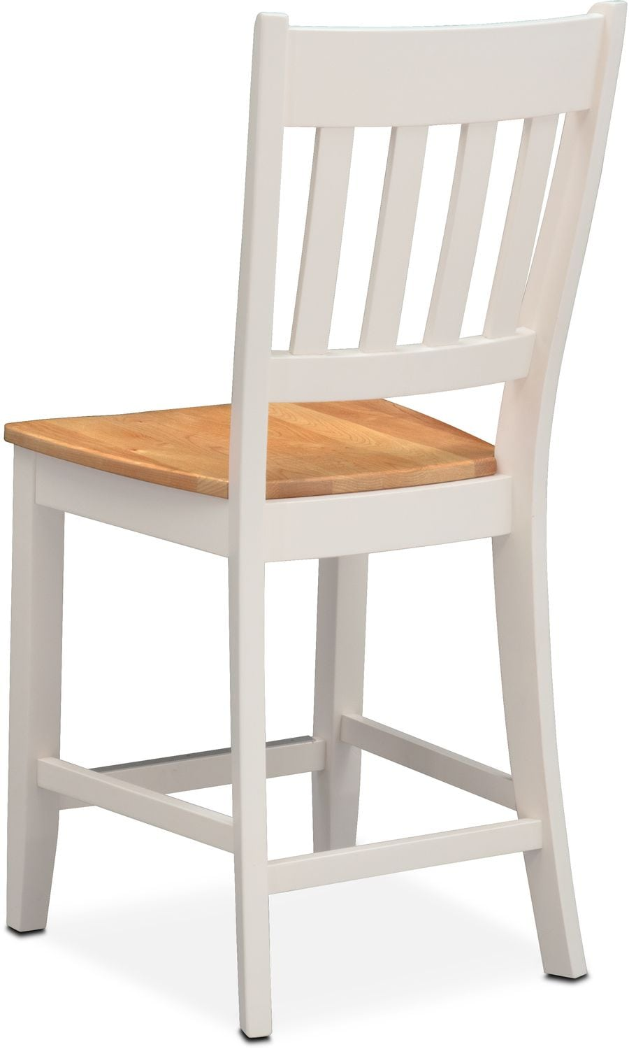 Nantucket Counter Height Slat Back Chair Maple And White American Signatu