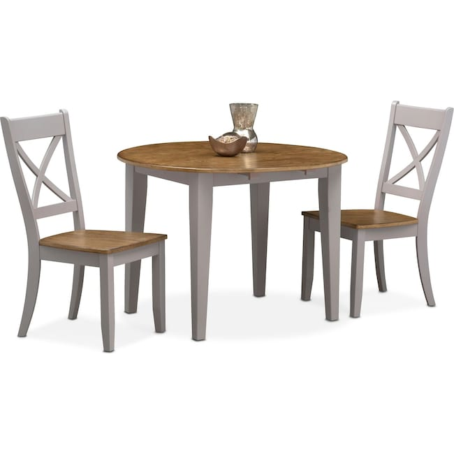 Dining Room Furniture - Nantucket Drop-Leaf Table and 2 Side Chairs