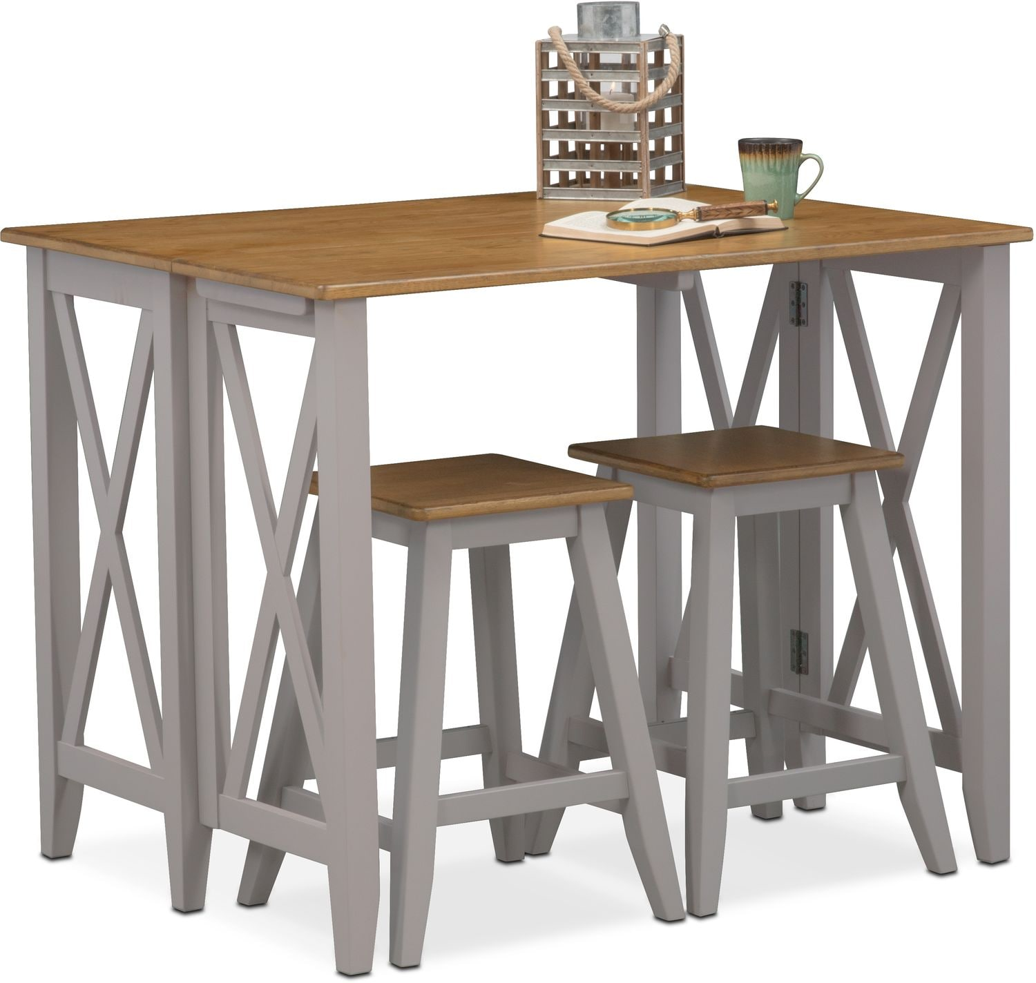 Newcastle Counter Height Dining Table 2 Chairs 2 Stools: Nantucket Breakfast Bar And 2 Counter-Height Stools