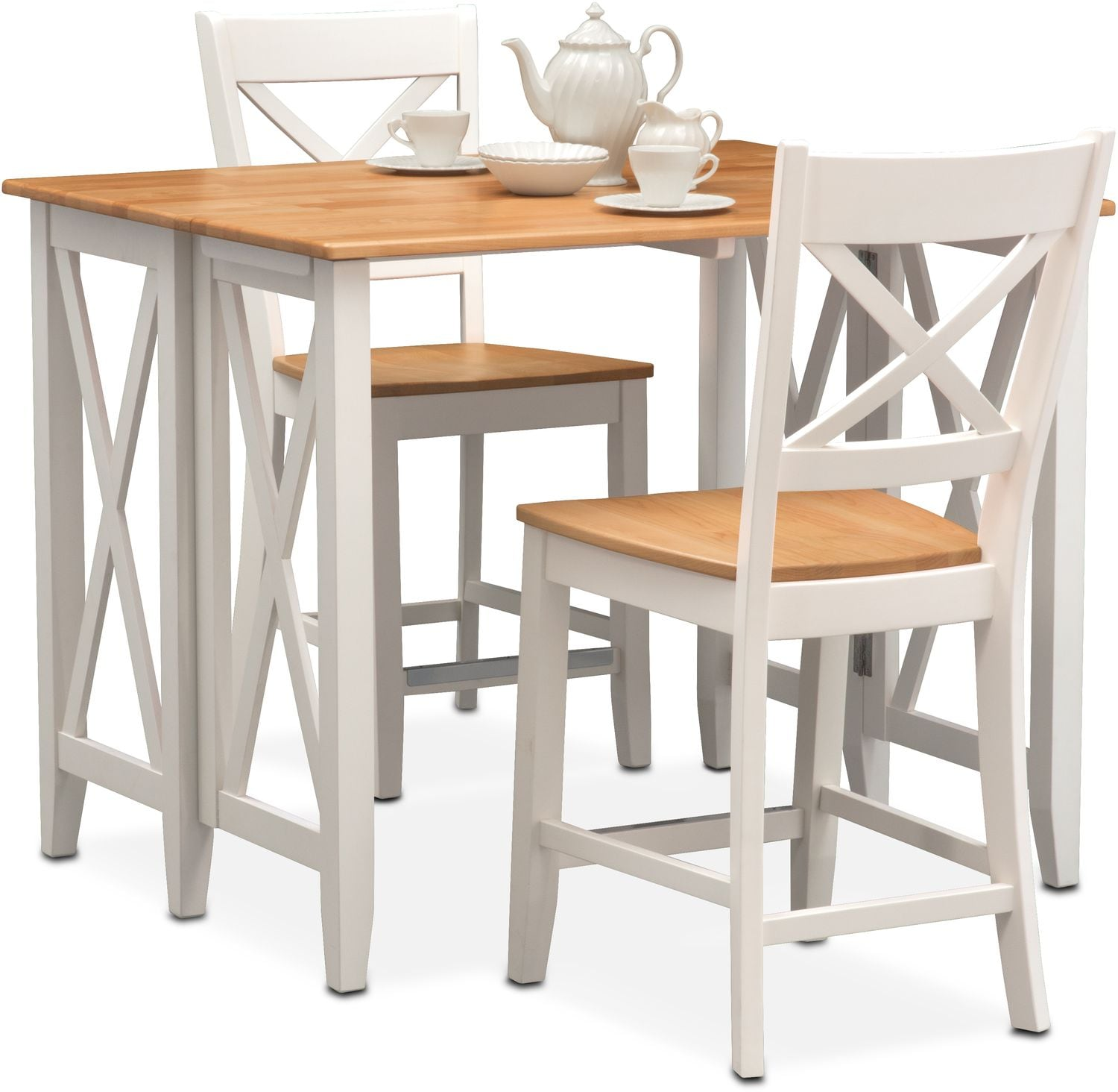 Nantucket Breakfast Bar and 2 Counter Height Side Chairs Maple