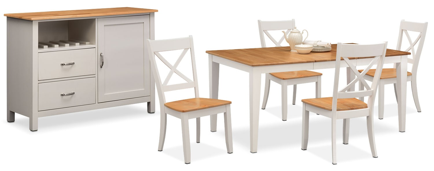 The Nantucket Dining Collection - Maple and White