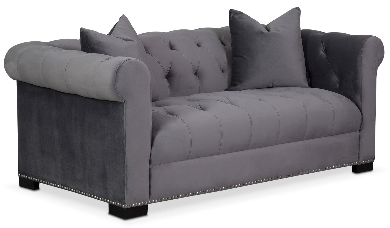 Couture Apartment Sofa - Gray | American Signature Furniture