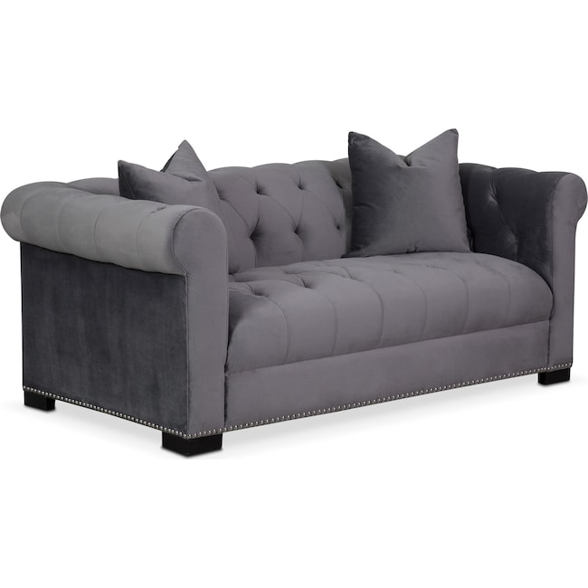 Living Room Furniture - Couture Apartment Sofa - Gray