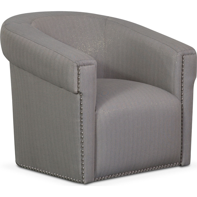 Accent and Occasional Furniture - Talia Swivel Chair - Metallic