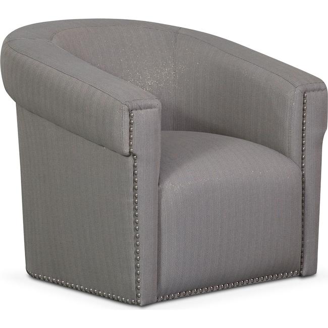 Living Room Furniture - Talia Swivel Chair - Metallic