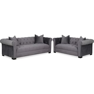 Couture Sofa and Apartment Sofa Set - Gray