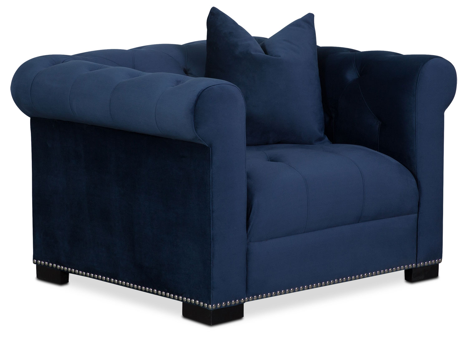 Living Room Furniture - Couture Chair - Indigo