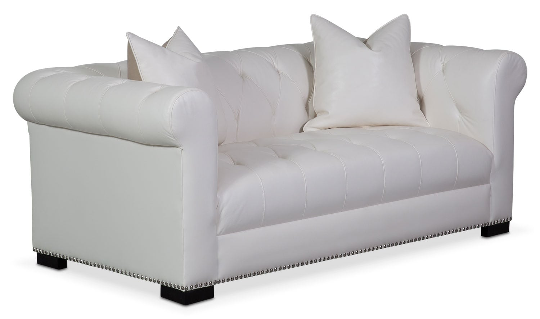 Living Room Furniture - Couture Apartment Sofa - White