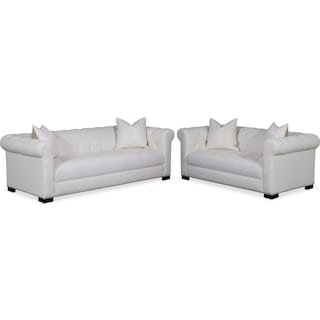 Couture Sofa and Apartment Sofa Set - White
