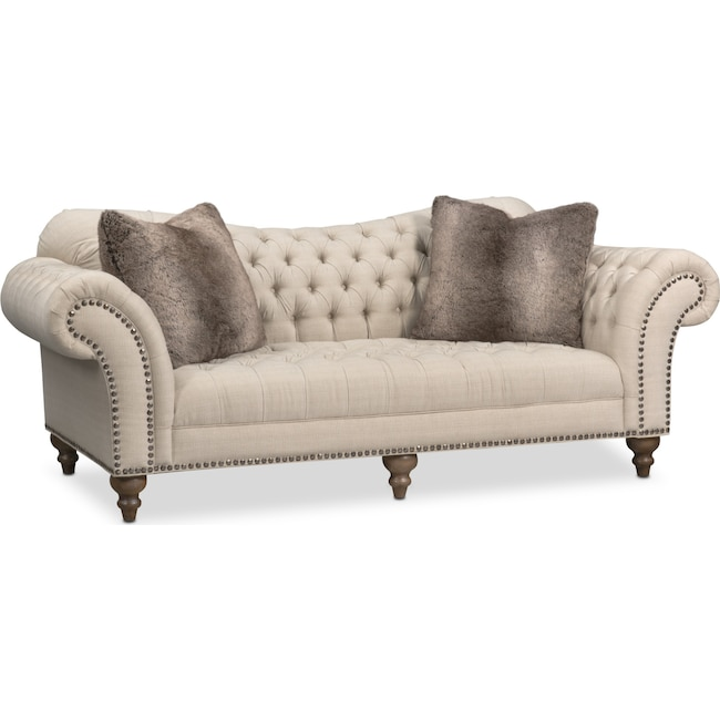 Living Room Furniture - Brittney Sofa - Linen
