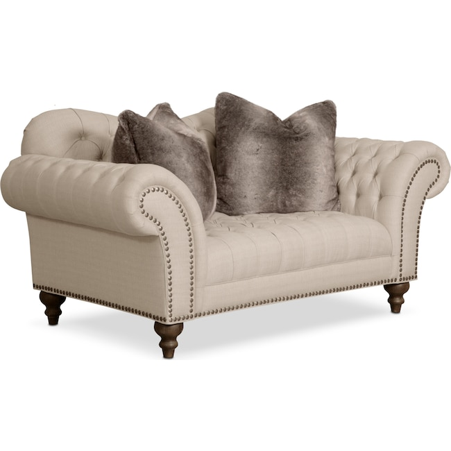 Living Room Furniture - Brittney Loveseat - Linen