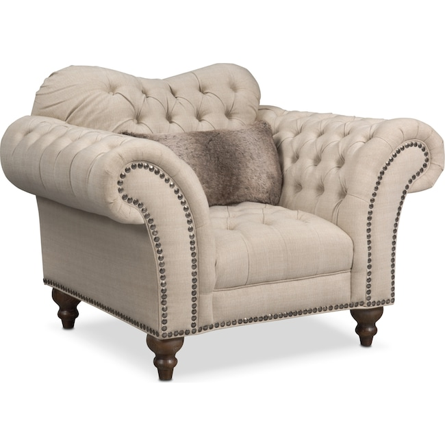 Living Room Furniture - Brittney Chair - Linen