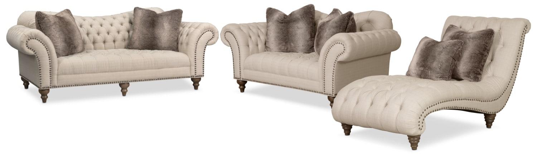 Brittney Sofa Linen Baci Living Room