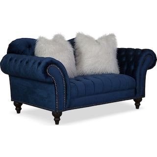 Brittney Loveseat - Navy